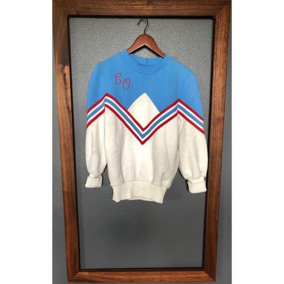 Vintage Varsity Cheerleading Sweater
