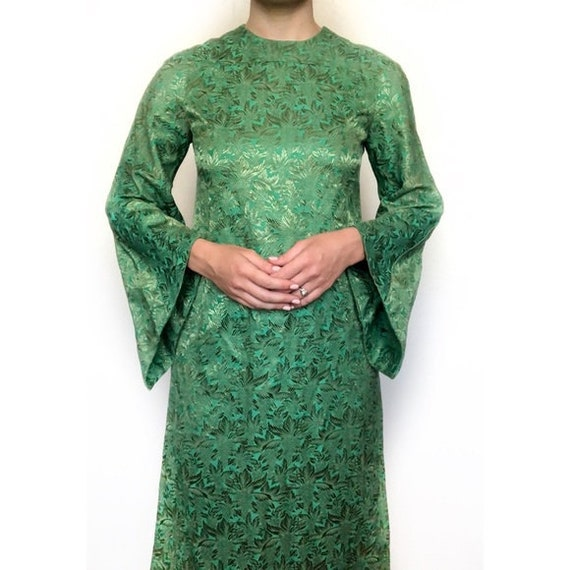 Vintage 60s/70s Kimono Angel Sleeve Dress