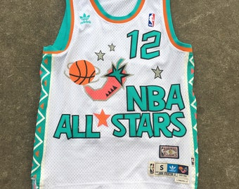 buy online bdf20 cb463 Vintage NBA Utah Jazz Kohn Stockton All-Star Jersey - Unisex Adult  Small Medium + 2 inches length - Vintage Clothing - Vtg - Retro