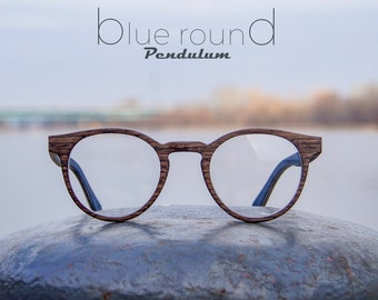 9b42f4b529 Wooden eyeglasses made of black walnut. With prescription lenses.
