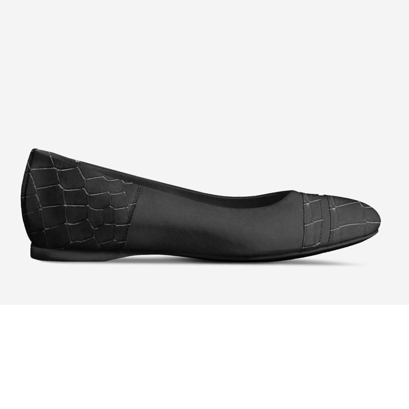 basic ballet flats shoe (black combo)