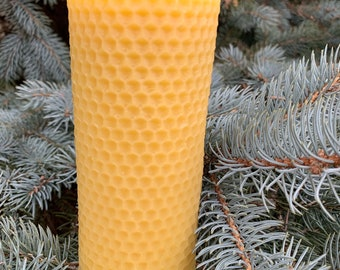 Honeycomb Beeswax Pillar -100% Pure Beeswax -Beeswax Pillar Candle - Made in Ohio