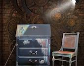 Steampunk Vintage Drop front Desk