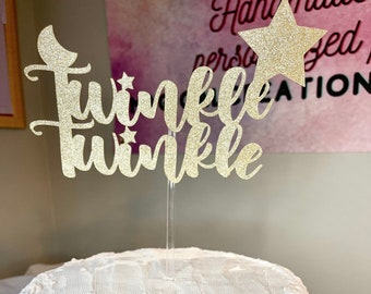 Twinkle Cake topper plus cupcake toppers | First Birthday | Cupcake toppers
