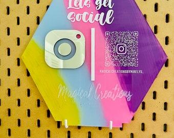 Customizable Social Media sign | Business Sign