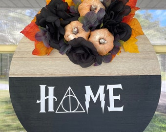 Hogwarts inspired wooden Home sign | Home sign | Welcome Sign