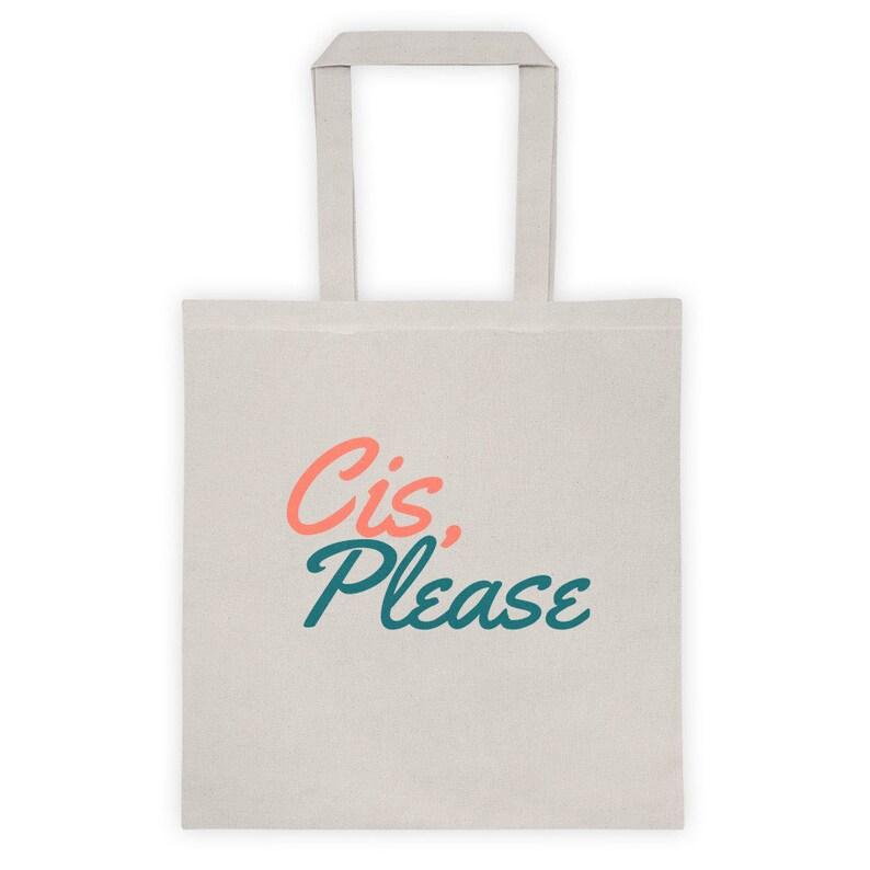 Cis PLEASE Canvas Tote