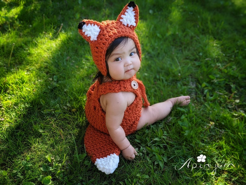 Crochet Baby Outfit Baby Fox Outfit Baby Fox Costume Baby boygirl Costume Baby Fox Photo prop,Baby Shower Gift First Halloween Costume