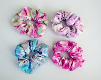 Pink Cotton Scrunchie Stocking Stuffer Handmade Favors or Gifts Pink Hair Accessory Christmas Gift