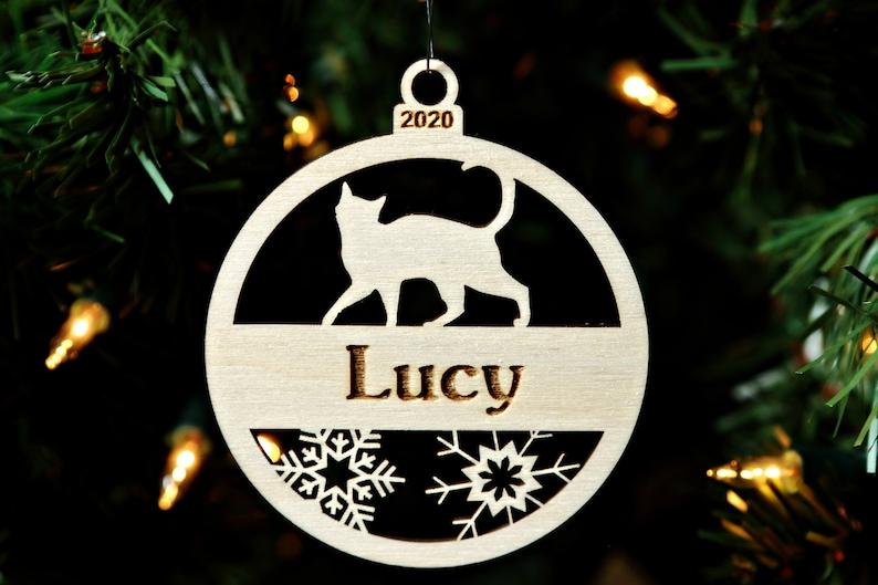 Cat Ornament Christmas Cat Ornament Pet Ornament Cat Breed image 0