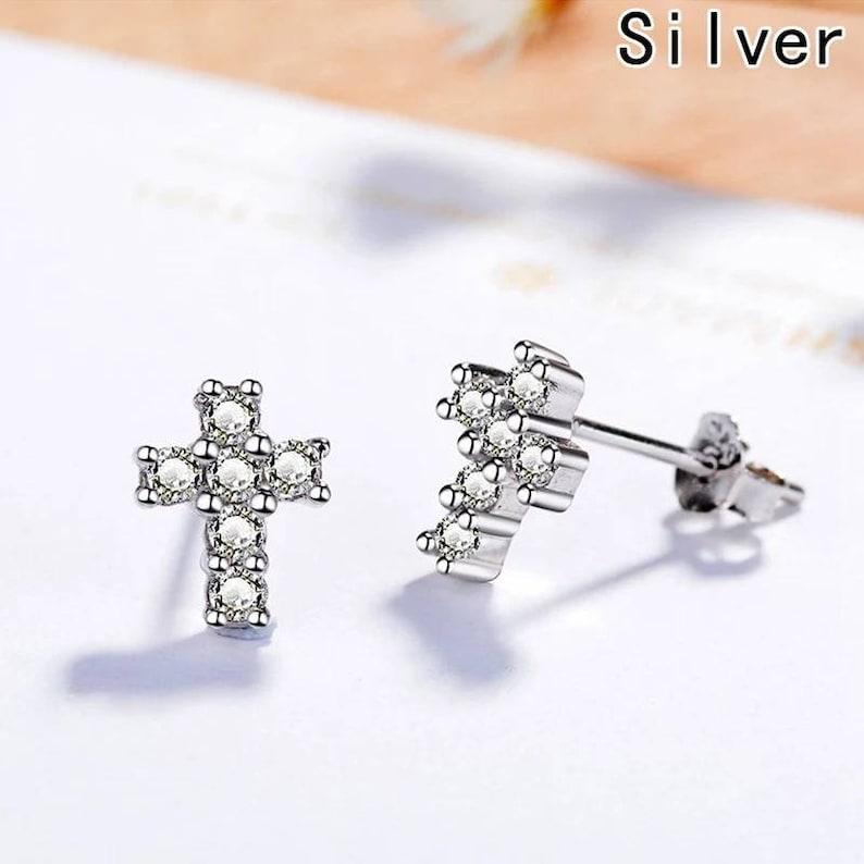 Earrings with Cross Zirconitas
