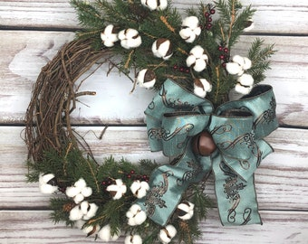 Country Wreath, Farmhouse Christmas, Rustic Christmas, Primitive Wreath, Front Door Wreath, Farmhouse Wreath, Rustic Christmas Wreath