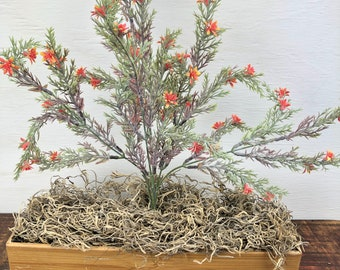 Orange Heather Bush, Orange Filler Flower for Wreaths or Arrangements, Spring Summer Orange Flowers, Floral and Garden Wreath Embellishments