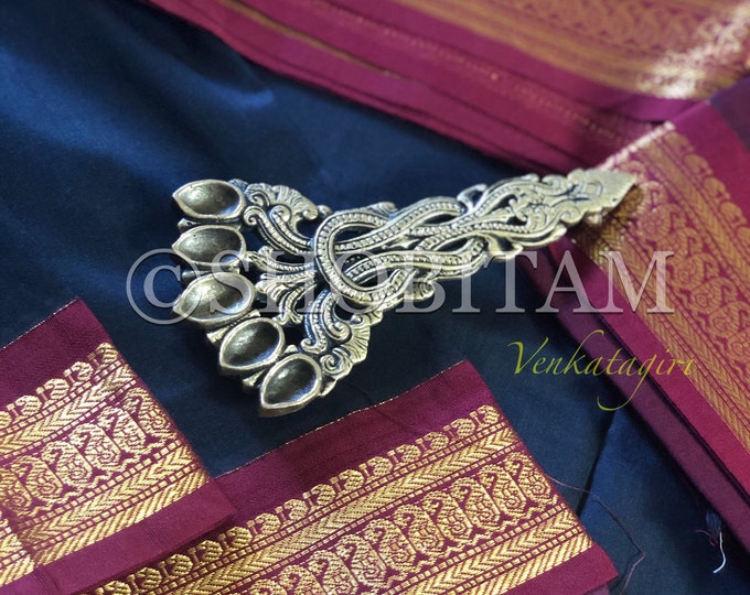 Black with maroon Red Venkatagiri Cotton Silk Saree  | Pretty Saree | Shobitam Saree