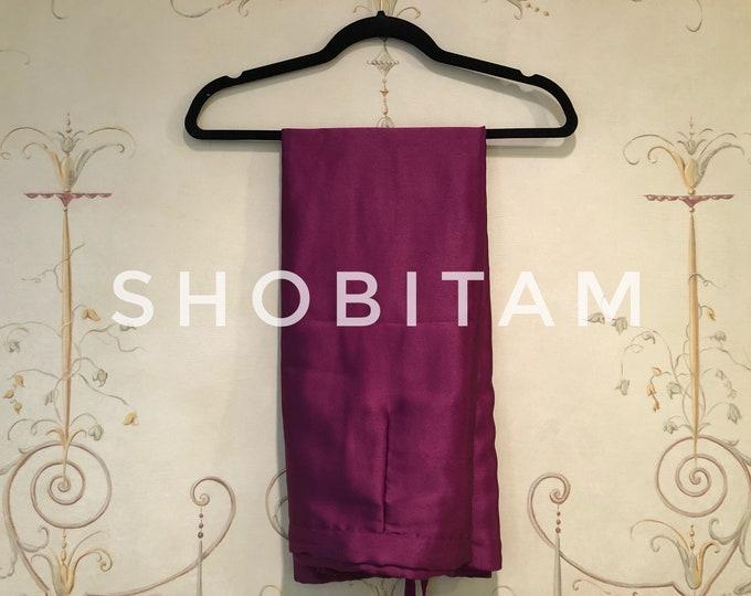 Premium Quality Purple Burgundy Petticoat for saree in standard size.