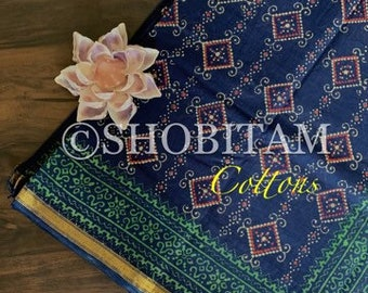 Block Print Saree on Cotton | Cotton Saree | block print | Shobitam Saree