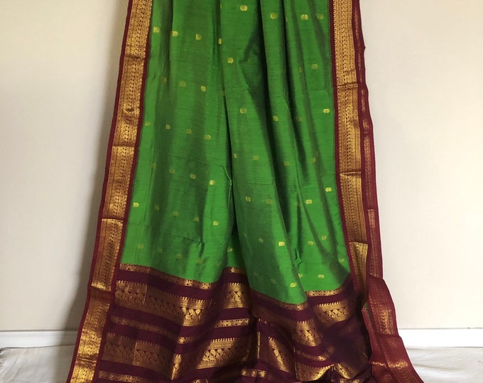 Green Venkatagiri Cotton Silk Saree  | Pretty Saree | Shobitam Saree