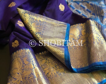 Pure Kanjeevaram Silk Saree | SILK MARK CERTIFIED | Shobitam Saree