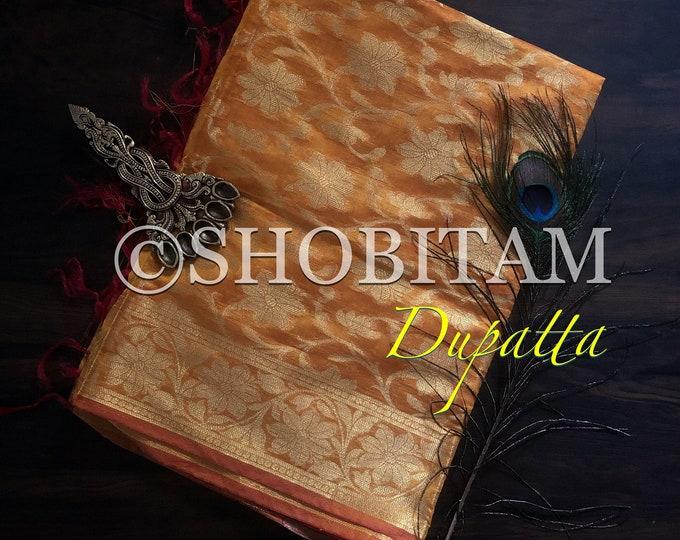 Banarasi Dupatta | Pretty Dupatta on  Chanderi Cotton | Lightweight Dupatta