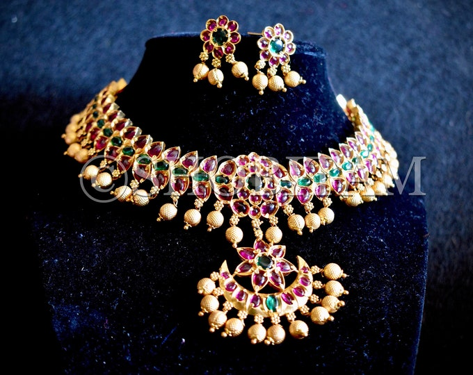 Temple Jewelry | Kemp necklace I Temple Necklace | Indian Necklace | Traditional Necklace | Shobitam jewellery|kemp jewelry
