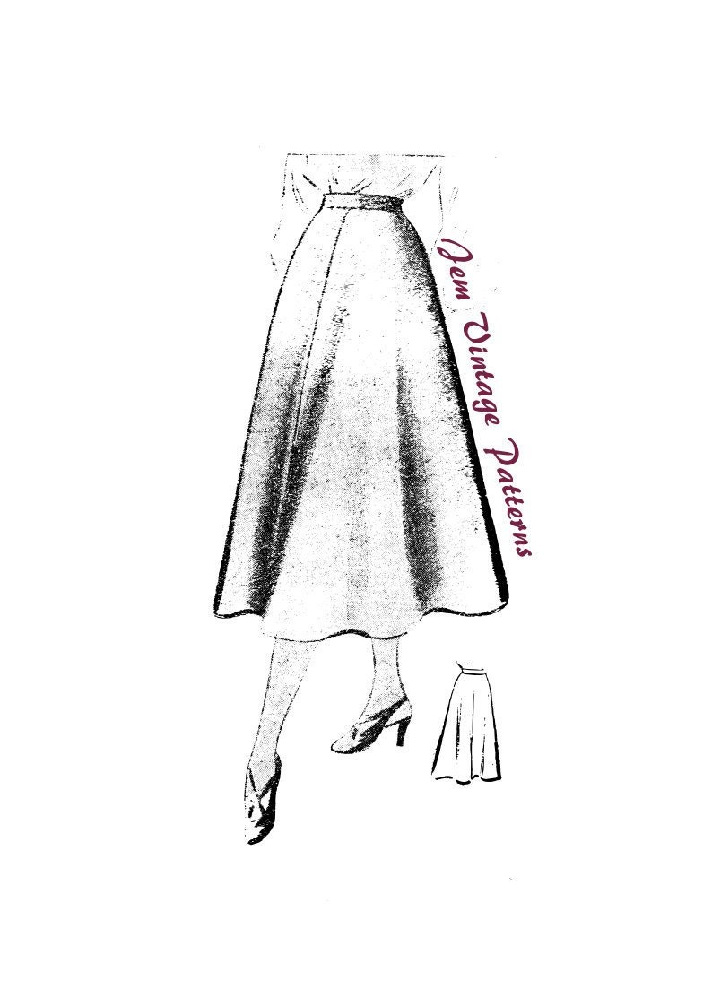 1940s Fabrics and Colors in Fashion 1940s skirt - vintage sewing pattern - 40s - panel skirt $5.93 AT vintagedancer.com