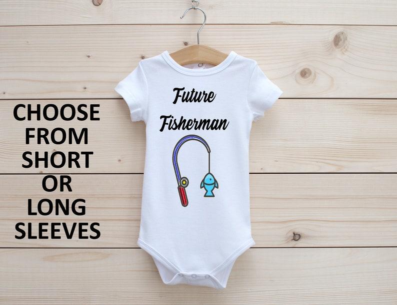 Future Fisherman Onesie\u00ae Baby Bodysuit Cute Baby onesie\u00ae Reveal Onesie\u00ae Onesie\u00ae First Onesie\u00ae Celebration Onesie\u00ae