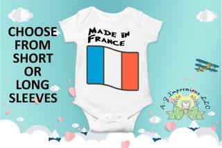 Made in France Onesie\u00ae, Travel Onesie\u00ae, Celebration Onesie\u00ae, Cute Baby onesie\u00ae, First Onesie\u00ae, Onesie\u00ae, Reveal Onesie\u00ae, Country Onesie\u00ae