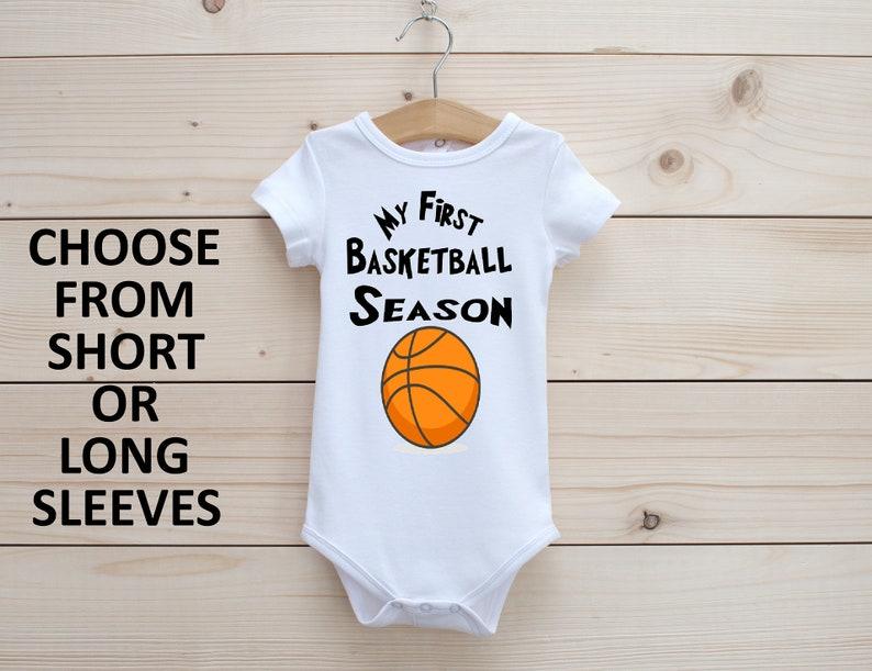 Baby Bodysuit Boy Onesie Onesie\u00ae My First Basketball Season Onesie\u00ae Celebration Onesie\u00ae Reveal Onesie\u00ae Cute Baby onesie\u00ae First Onesie\u00ae