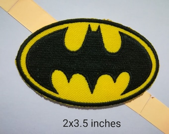 d7a935eb3 Batman Logo Iron on Patch Embroidery Badge Patch Applique patch for Jean,Patch  for Jacket/ Cloth.