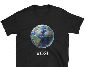 1e8bf8e9 Flat Earth T-Shirt Conspiracy Theory The Earth Is Flat New World Order  Illuminati CGI