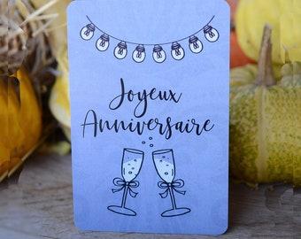 Happy birthday champagne card
