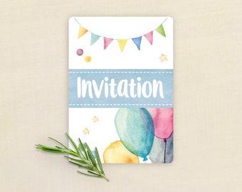 Multicolored birthday invitation