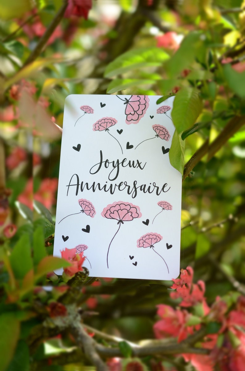 Happy Birthday Flower Card image 0