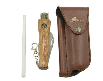 Listing special for Leala. Mushroom knife (in a case with sharpener)