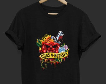 0134103f0 Guns n Roses - Band T Shirt - Rock Band T Shirt - Tops and Tees - Unisex  Adult Clothing - Hypebeast - Streetwear