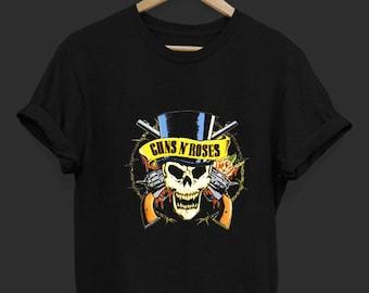 6e6c88294 Guns n Roses Skull Head - Guns n Roses - Band T Shirt - Rock Band T Shirt -  Tops and Tees - Unisex Adult Clothing - Hypebeast - Streetwear