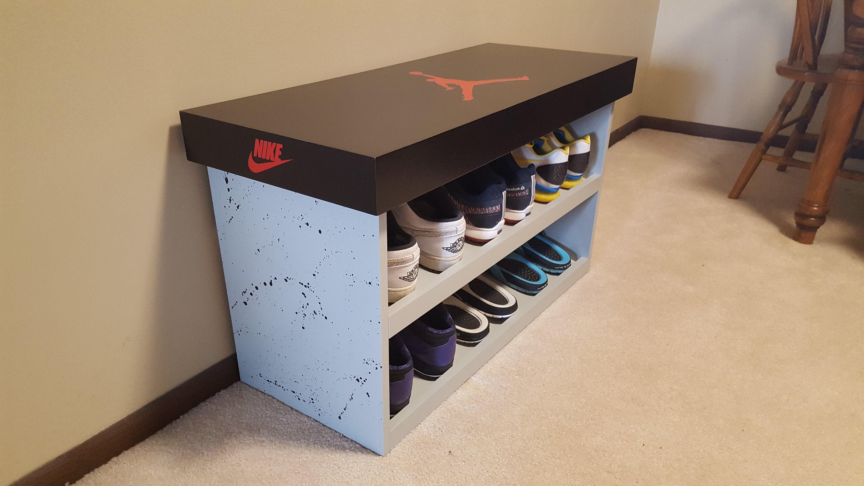 Nike Shoe Bench, Shoe Box RTA Shoe Storage
