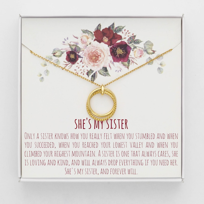 51560fe17c105 Sisters Necklace • Sister Gift • Gift for Sister • Sister Birthday Gift •  Big Sister Gift • Giggles • Secrets • Linked Circles