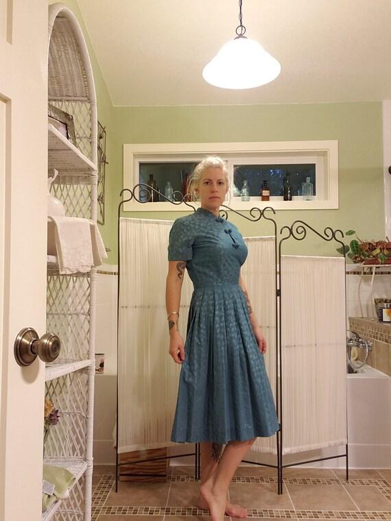 1950s Vintage Shirt Dress