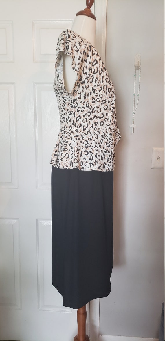Vintage 1980s does 1940s Wrap Dress - image 7