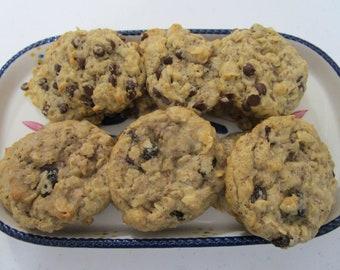 Lactation Cookies,Gluten Free-,Vegan Chocolate Chip, Cinnamon Raisin, Organic Egg Free, Breastfeeding, Brewers Yeast, Welcome Baby, Healthy