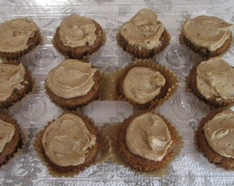 AIP, Paleo, Mini Vanilla Cupcakes, Maple Frosting, Gluten Free, Egg Free, Dairy Free, Nut Free, No Refined Sugar, Holiday, Wedding, Catering
