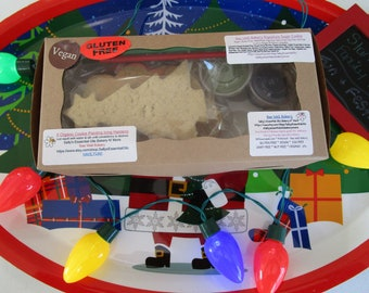 Christmas Cookie Kit, Gluten Free, DIY Holiday Decorating, Egg Free, Dairy Free, Elf, Snowman, Star, Santa, Ornament, Stocking, Candy Cane