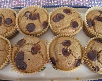 Keto, Muffin, Cherry Chocolate Chip, Gluten Free, Vegan ,Ketogenic Diet, Cyclical Keto, Sugar Free dessert, Breakfast on the go, Post Fast