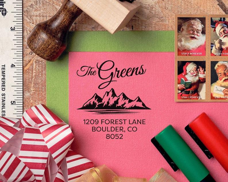 Colorado Mountains Return Address Stamp Personalized, Custom, Housewarming Gift, Realtor Closing Gift, State Pride