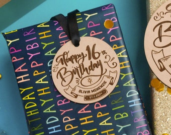16th birthday gift tags