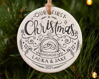 Engaged christmas ornament.