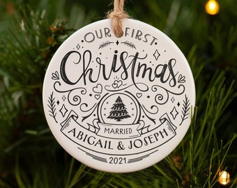 Our first Christmas ornament married