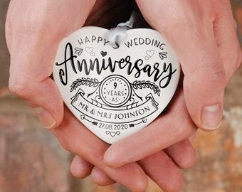 Ceramic heart anniversary