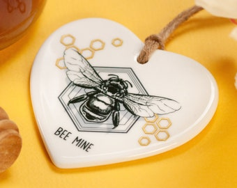 Bee mine heart pendant. Engagement gift for him. Will you marry me. Proposal ideas. Unique proposal gift.